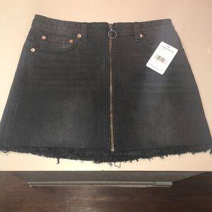 NWT Black Free People Skirt Sz 27